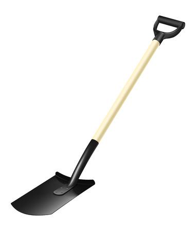 fiberglass: Photorealistic fiberglass shovel with handle on white background
