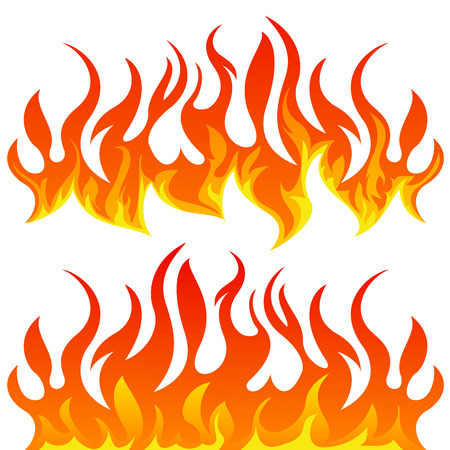 fire flames vector set on white background royalty free cliparts rh 123rf com flames victoria park flames vector file