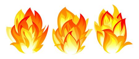 Three simple fire icon