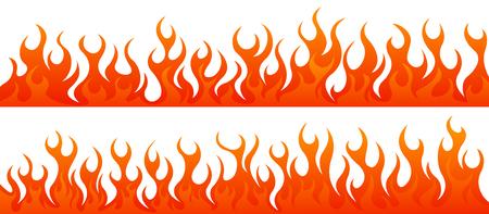 fiery: Fire flames vector set