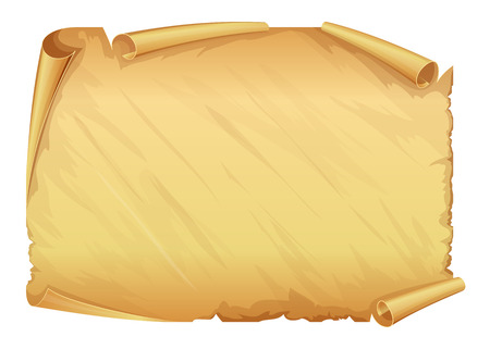 Golden old scroll of parchment