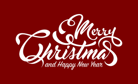 White text marry christmas and happy new year Illustration