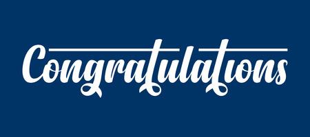 Congratulations calligraphic text