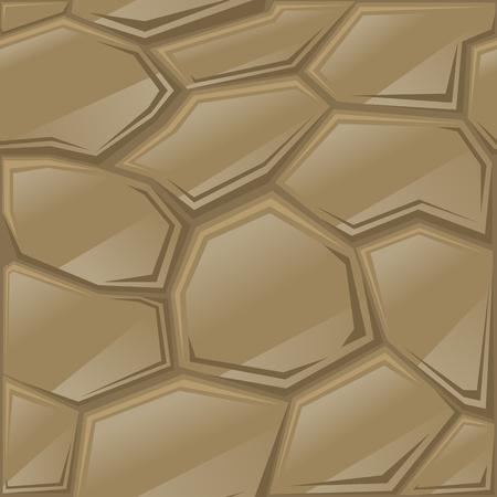 simple brown stone seamless pattern. Vector illustration Ilustrace