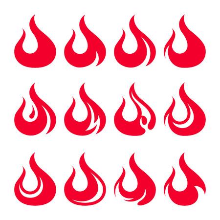 Fire icon set. Design element