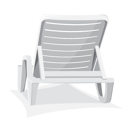 Plastic beach chair isolated on white background