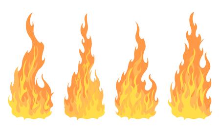 4 bonfire icon with flat bottom design element on white background