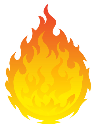 Vector illustration round bonfire icon on white background Vektoros illusztráció