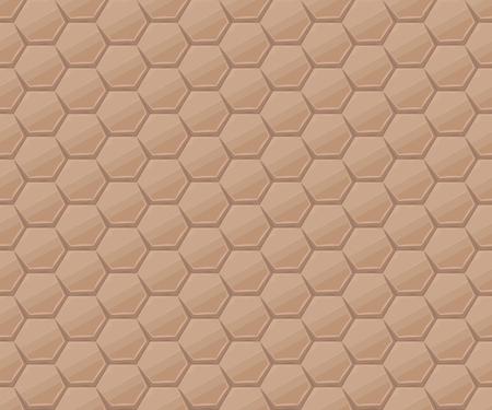 hexagonal stone tiles Illustration