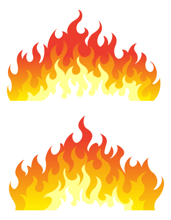 Bonfire set. Design element