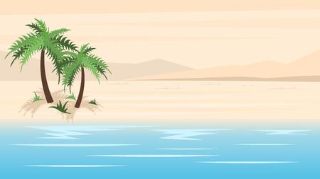 Plage paradisiaque tropicale Vecteurs