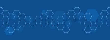Technical honeycomb background Vector Illustration