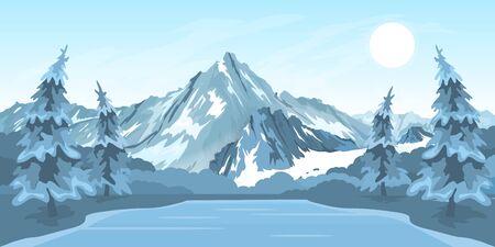 Winter rural landscape