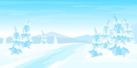 Paysage rural d'hiver