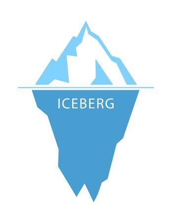 Iceberg vector logo