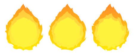 Round fire frames