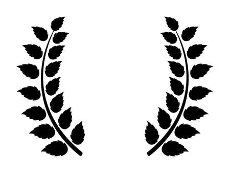Laurel icon on white background 向量圖像