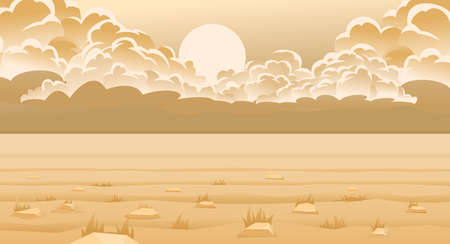 Landscape. Desert storm