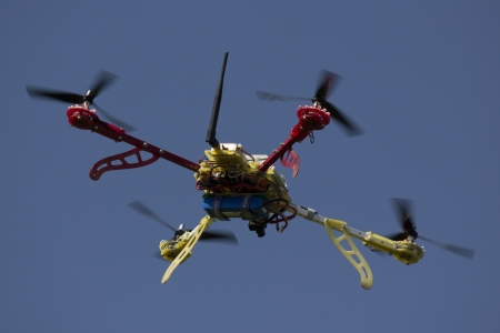 helicopter pad: Modern flying dron of high quality