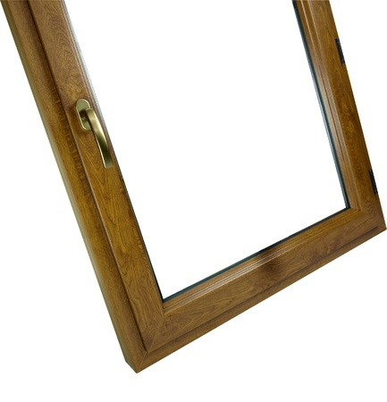 without window: Wooden window without the glass with the handle