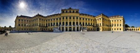 schloss schoenbrunn: Austria Vienna Schonbrunn Palace 14-09-2012 large panorama Editorial
