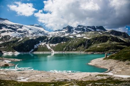 The Kaprun reservoir in the high Alp mountains in Austria