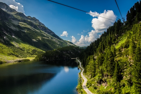 cian: The Kaprun reservoir in the high Alp mountains in Austria Stock Photo