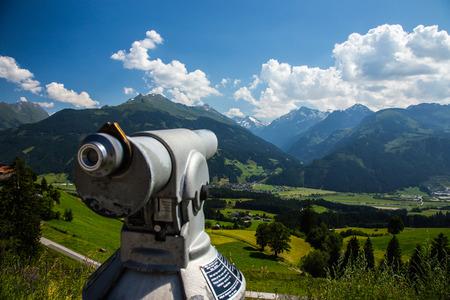 curiousness: The high Alp panorama via old telescope
