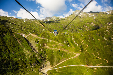 The elevator in the high Alps mountains photo
