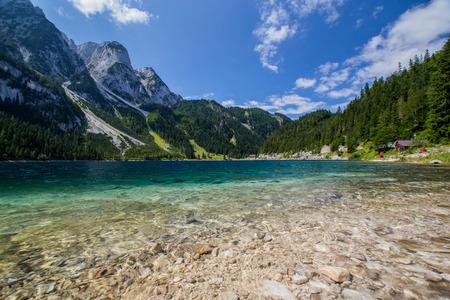 Beautiful lake in high mountains Alps Austria Stock Photo
