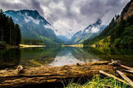 louise: Mountain and lake in high Alps Austria Stock Photo