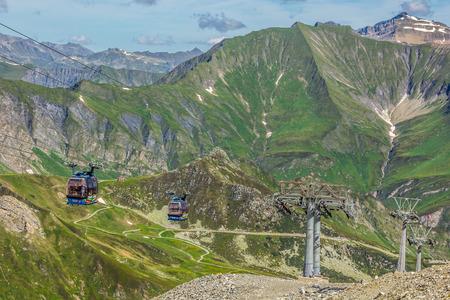 Ski station in high Alps mountains Austria photo