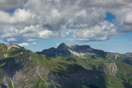 subsistence: Large view of the high mountains Alps Austria