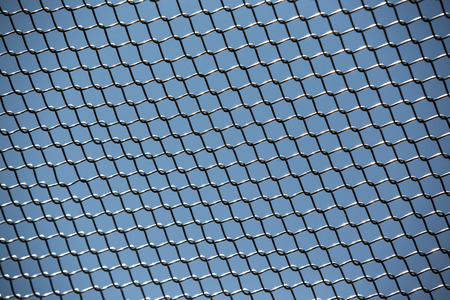 enclose: Metal fence protection with many small elements