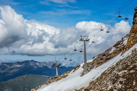 station ski: Ski station in high mountains Alps Austria
