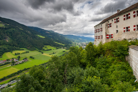 amadeus: View at the Salzburg in mountains Alps Austria Stock Photo