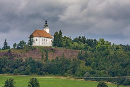 onion valley: Small church in high mountains Alps Austria