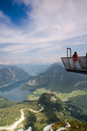 hugh: Observation deck in hugh mountains Alps Austria