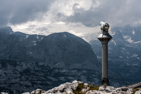 Observation point with telescope high Alps Austria photo