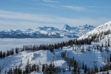 Large winter view at the mountains Alps Austria photo