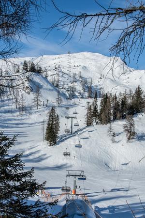 station ski: Winter view at the the ski station in Alps Austria