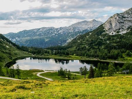 kaprun: Beautiful lake in high Alps Kaprun Austria Stock Photo