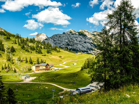 Large view at the high mountains Alps Austria photo