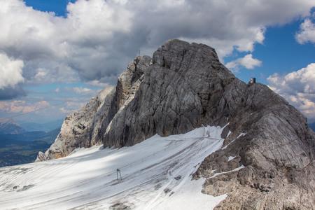 station ski: Ski station on the top Alps Austria