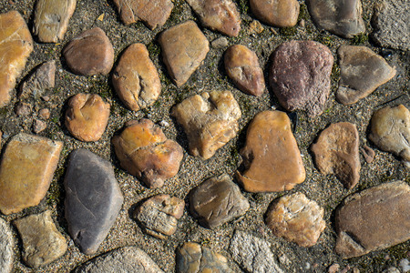 stony: The pattern of the old stony pavement