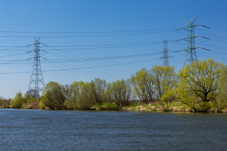 powerlines: The powerlines at the power station in Poland Opole