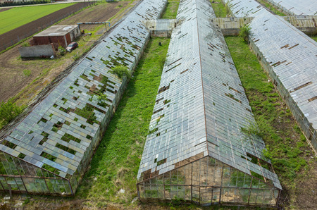 hail: Abandoned greenhouses damaged and destroyed by the hail