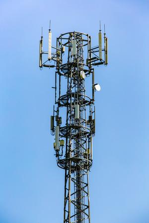 multiple: High tv transmitter with multiple tv antennas