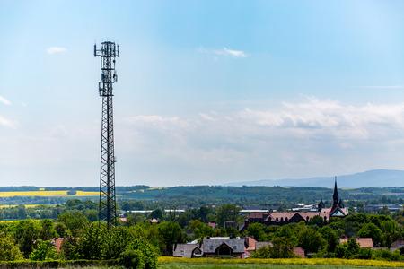 transmitter: High tv transmitter with multiple tv antennas