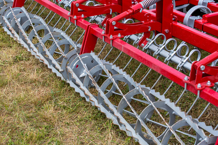 machinery: Close view on the fragment of seedbed machinery
